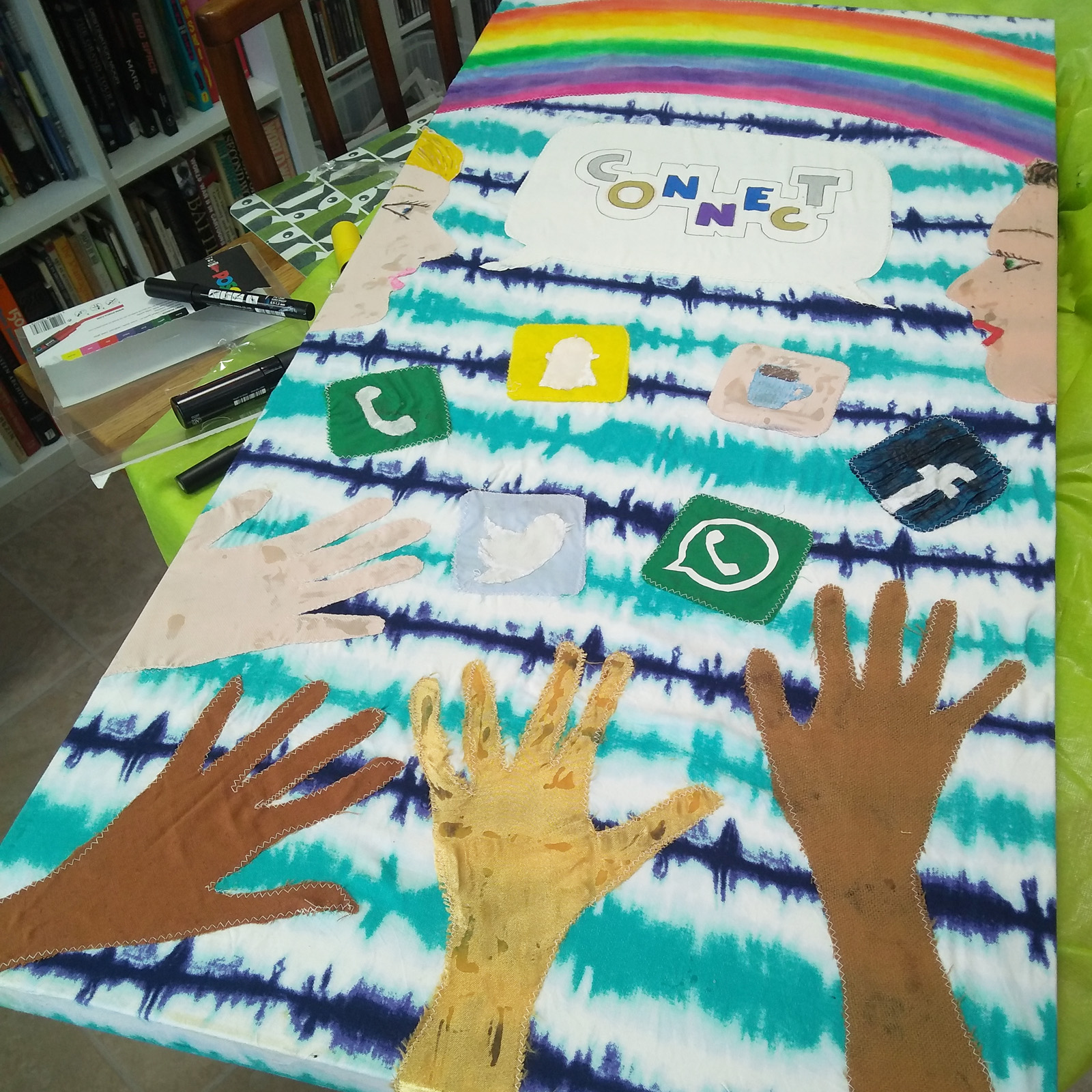 Photo: Banner making